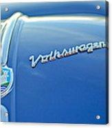 1956 Volkswagen Vw Bug Hood Emblem Acrylic Print