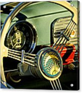 1956 Volkswagen Vw Bug Steering Wheel 2 Acrylic Print by Jill Reger