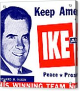 1956 Vote Ike And Dick Acrylic Print by Historic Image