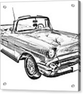 1957 Chevrolet Bel Air Convertible Illustration Acrylic Print