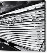1957 Chevrolet Bel Air Monochrome Acrylic Print
