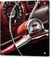 1957 Chevrolet Bel Air Steering Wheel Acrylic Print