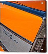 1957 Chevrolet Belair Rear Emblem -037c Acrylic Print