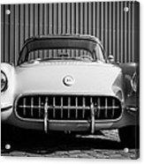 1957 Chevrolet Corvette -0010bw Acrylic Print