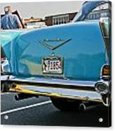 1957 Chevy Bel Air Blue From Rear Acrylic Print