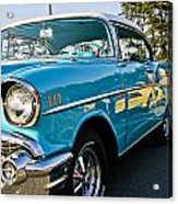 1957 Chevy Bel Air Blue Right Side Acrylic Print