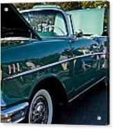 1957 Chevy Bel Air Green Right Side Acrylic Print