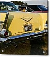 1957 Chevy Bel Air Yellow From Rear Quater Acrylic Print