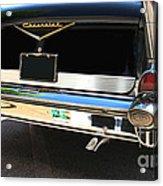 1957 Chevy Rear View Car Art Acrylic Print