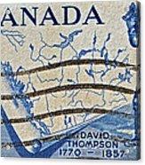 1957 David Thompson Canada Stamp Acrylic Print