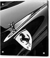 1957 Ferrari Tr 250 - 0714 Emblem -0379bw Acrylic Print