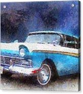 1957 Ford Classic Car Photo Art 02 Acrylic Print