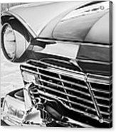 1957 Ford Fairlane Grille -107bw Acrylic Print