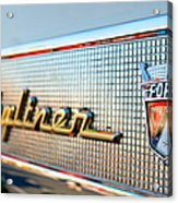 1957 Ford Skyliner Retractable Hardtop Emblem Acrylic Print
