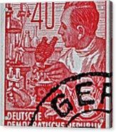1957 German Democratic Republic Chemist Stamp Acrylic Print