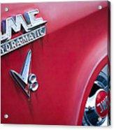 1957 Gmc V8 Pickup Truck Gmc Hydra-matic Emblem Acrylic Print