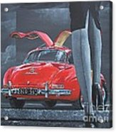 1957 Mercedes Benz 300 Sl Gullwing Coupe Acrylic Print