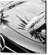 1957 Mercedes-benz 300sl Grille Emblem -0167bw Acrylic Print