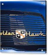1957 Studebaker Golden Hawk Supercharged Sports Coupe Emblem Acrylic Print