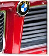 1958 Bmw 3200 Michelotti Vignale Roadster Grille Emblem -2414c Acrylic Print