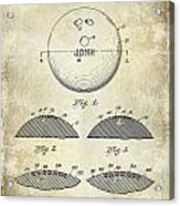 1958 Bowling Patent Drawing Acrylic Print