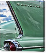 1958 Cadillac It's All In The Fin. Acrylic Print