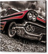 1958 Chev Biscayne Acrylic Print by motography aka Phil Clark