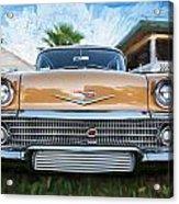 1958 Chevrolet Bel Air Impala Painted   Acrylic Print