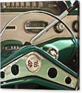 1958 Chevrolet Impala Steering Wheel Acrylic Print by Jill Reger