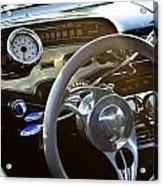 1958 Chevy Impala Dashboard Acrylic Print