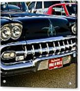 1958 Chevy Impala Front End Grill Work Acrylic Print