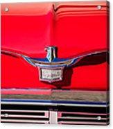 1958 Chrysler Imperial Crown Convertible Emblem Acrylic Print