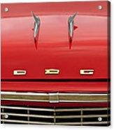 1958 Dodge Coronet Super D-500 Convertible Hood Ornament Acrylic Print by Jill Reger
