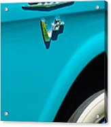 1958 Gmc Series 101-s Pickup Truck Side Emblem Acrylic Print