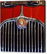 1958 Jaguar Xk150 Roadster Grille Emblem Acrylic Print by Jill Reger