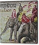 1958 Laos Elephant Stamp IIi Acrylic Print