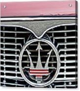 1958 Maserati Hood Emblem Acrylic Print