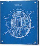 1958 Space Satellite Structure Patent Blueprint Acrylic Print
