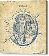 1958 Space Satellite Structure Patent Vintage Acrylic Print