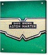 1959 Aston Martin Db4 Gt Hood Emblem -0127c Acrylic Print