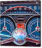 1959 Buick Lesabre Steering Wheel Acrylic Print by Jill Reger