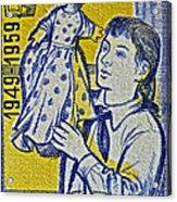 1959 Czechoslovakia Stamp Acrylic Print