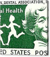 1959 Dental Health Postage Stamp Acrylic Print