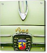 1959 Fiat 600 Derivazione 750 Abarth Hood Ornament Acrylic Print