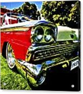 1959 Ford Fairlane 500 Skyliner Acrylic Print by motography aka Phil Clark