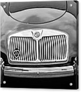 1959 Mg A 1600 Roadster Front End -0055bw Acrylic Print