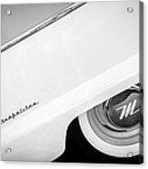 1959 Nash Metropolitan 1500 Convertible Wheel Emblem -0388bw Acrylic Print