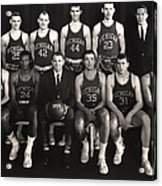 1959 University Of Michigan Basketball Team Photo Acrylic Print