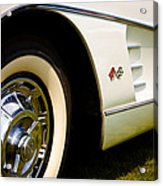1959 White Chevy Corvette Acrylic Print