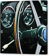 1960 Aston Martin Db4 Gt Coupe' Steering Wheel Emblem Acrylic Print